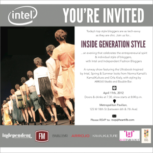 Inside Generation Style (TONIGHT!): 15 Fashion Bloggers, One night, One runway